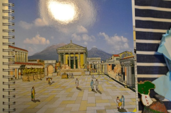 Pages from the book that show what Pompeii looked like before the eruption...