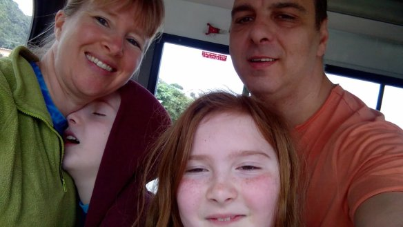 Partial Family Photo on the bus.