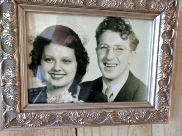 My brothers' first mom and our dad. Love Dad's curly hair.