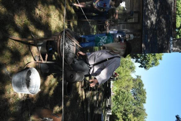 Mr. Blacksmith was glad for the cool day.