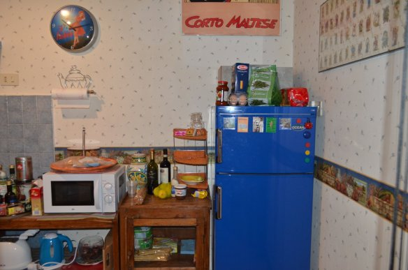 Grandma likes a cluttered kitchen.