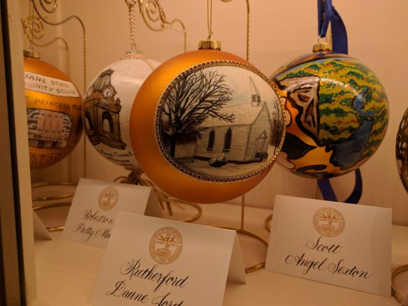 A hand painted ornament for each county.