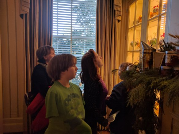 Looking at the ornaments.