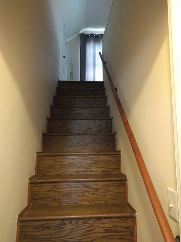 Stairs to Monkey's attic space.