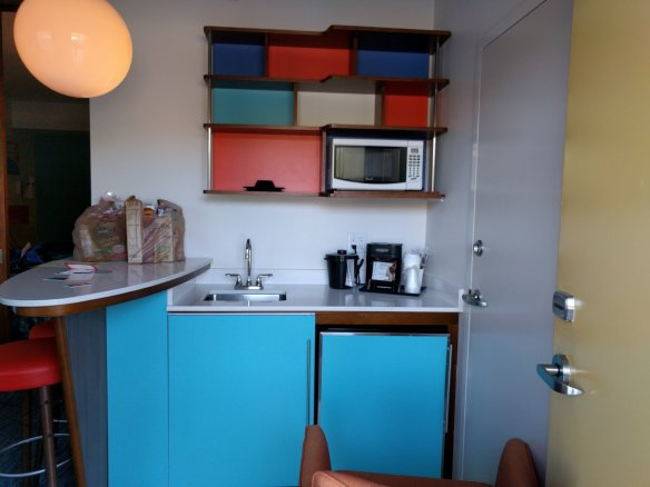 The kitchenette