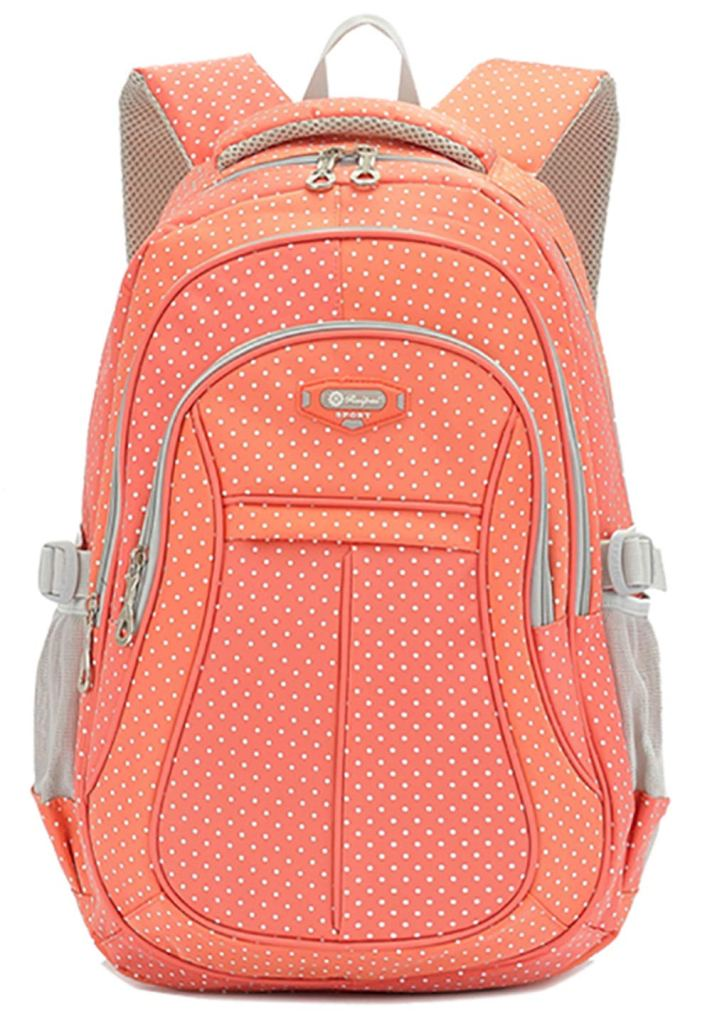 Polka dot School backpack - www.mommininapinch.com