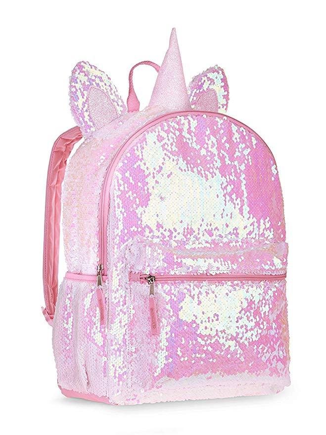 Unicorn 2 Way sequin School backpack - www.momminapinch.com