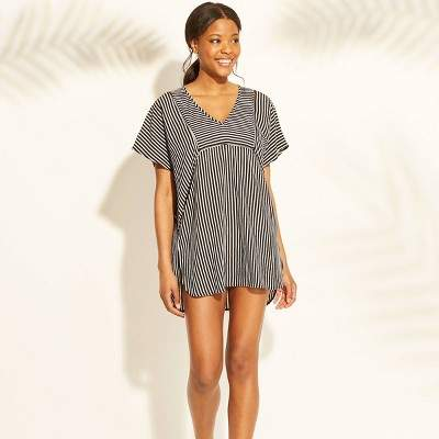 pin stripe beach bathing suit cover up - www.mommininapinch.com