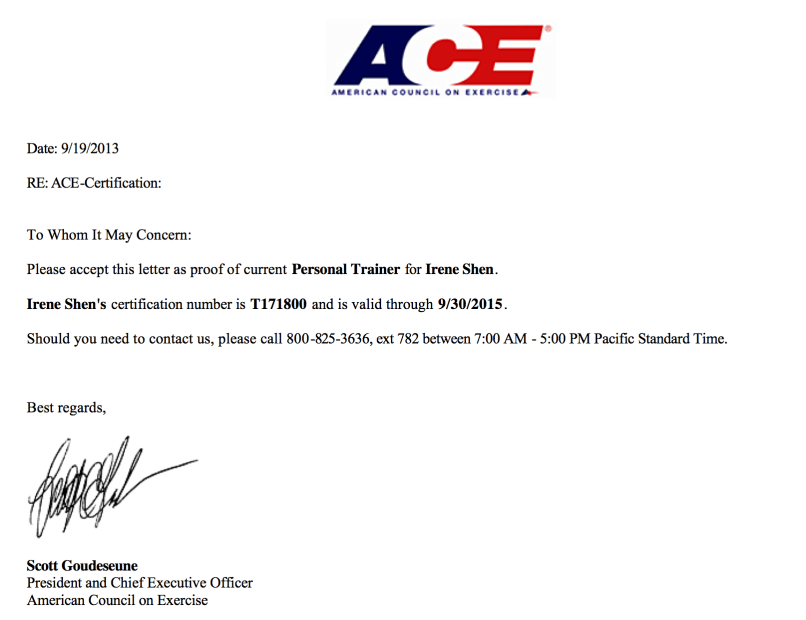 Ace Certification Cost Image collections - certificate design ...
