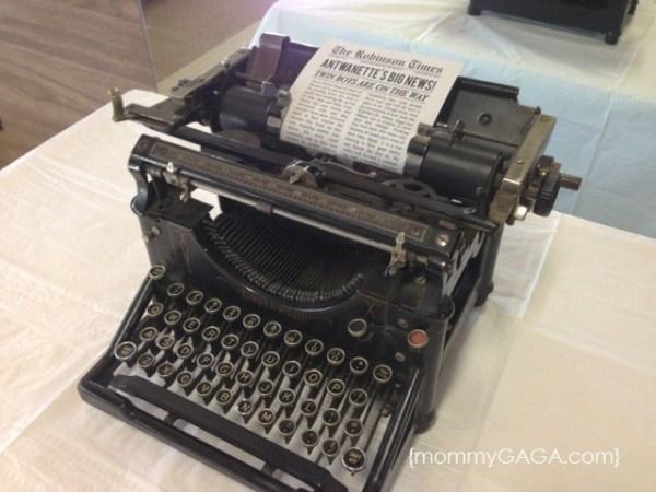 old typewriter for newspaper babyshower
