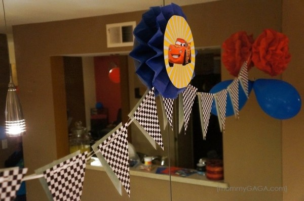 DIY Race Car Pennant Birthday Party Banner