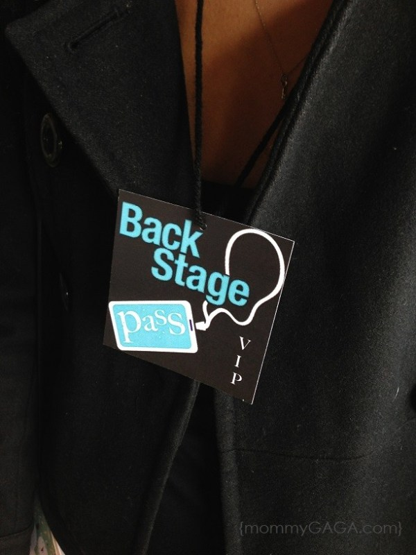 Rock-a-bye baby shower backstage passes