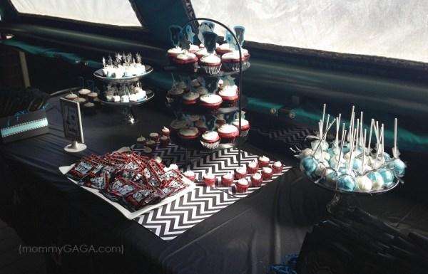 Rock-a-bye baby shower dessert table