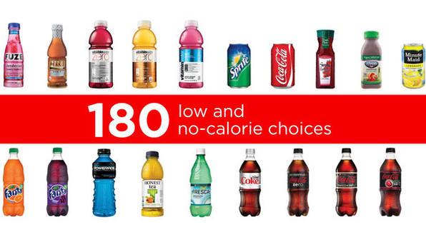 Coca Cola Low Calorie and No Calorie Beverages