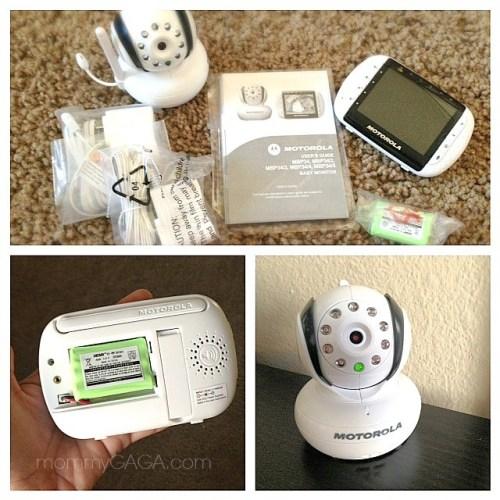 Motorola MBP34T Wireless Video Baby Monitor Box Contents
