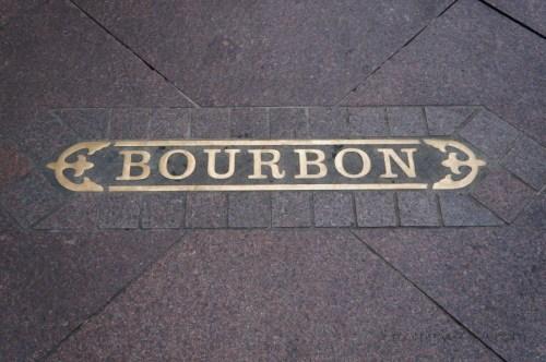 Bourbon Street plate sign, New Orleans