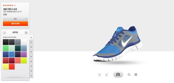 Nike Free 5.0 iD Custom Running Shoes Designer