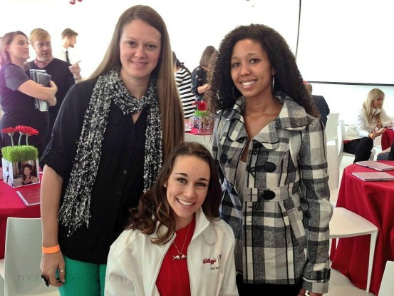 Crystal Reagan and Deanna Underwood with Sarah Hendrickson, Team USA Olympic ski jumper champion