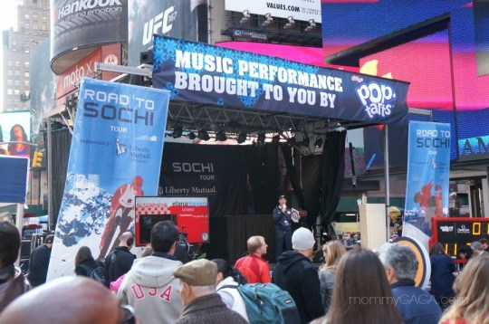 Stage at Road to Sochi Event, Times Square, New York