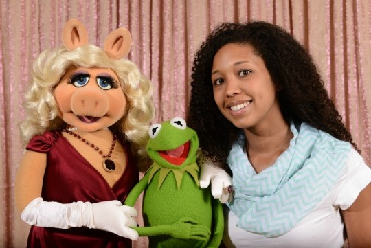 Deanna Underwood with Kermit the Frog, Miss Piggy, Muppets Most Wanted