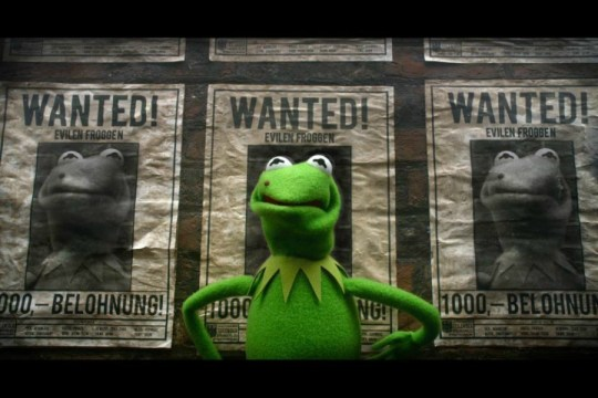 Kermit as Constantine from Muppets Most Wanted Movie