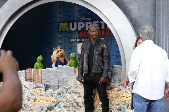 Terry Crews at the Muppets Most Wanted premiere