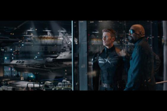 Captain America and Nick Fury