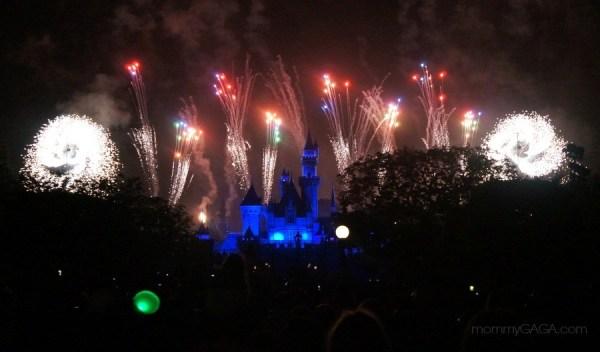 Fireworks show at Disneyland, California