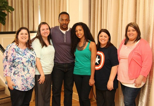 Interview with Anthony Mackie, bloggers, Captain America Event, Los Angeles, CA, March 2014