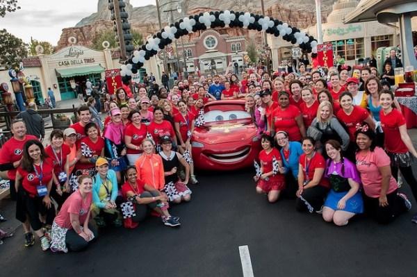 Disney Fun Run, Disney SM Moms conference, in Carsland, Disney's California Adventure