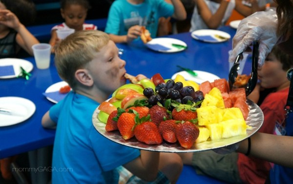Party fruit platter at Sky Zone, San Diego