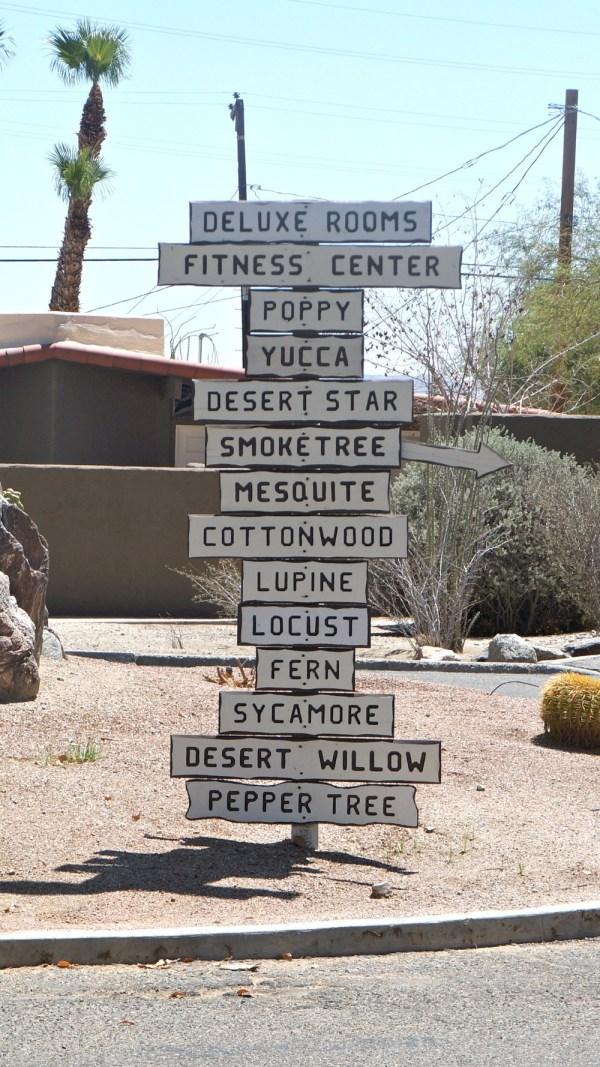 Desert signs at La Casa Del Zorro