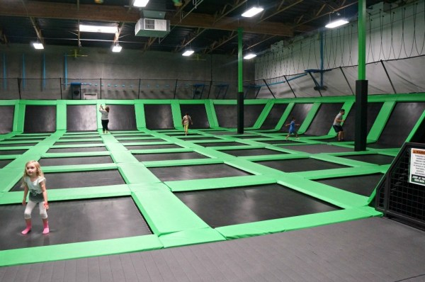 Large trampoline at Jump Around Now