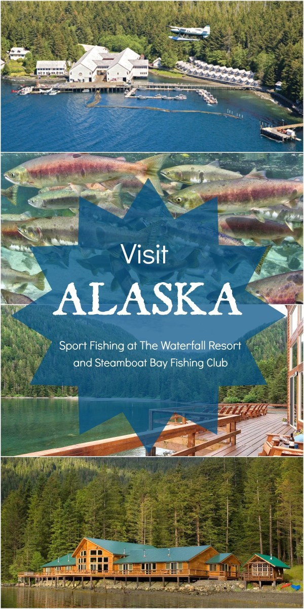Visit ALASKA, Sport fishing and luxury accommodations at Waterfall Resort and Steamboat Bay Fishing Club