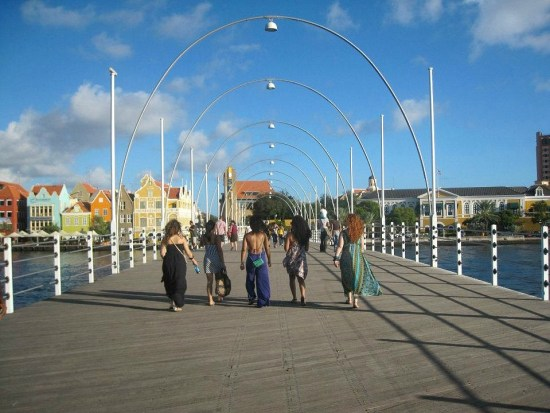 Curacao, bridge at Willemstad