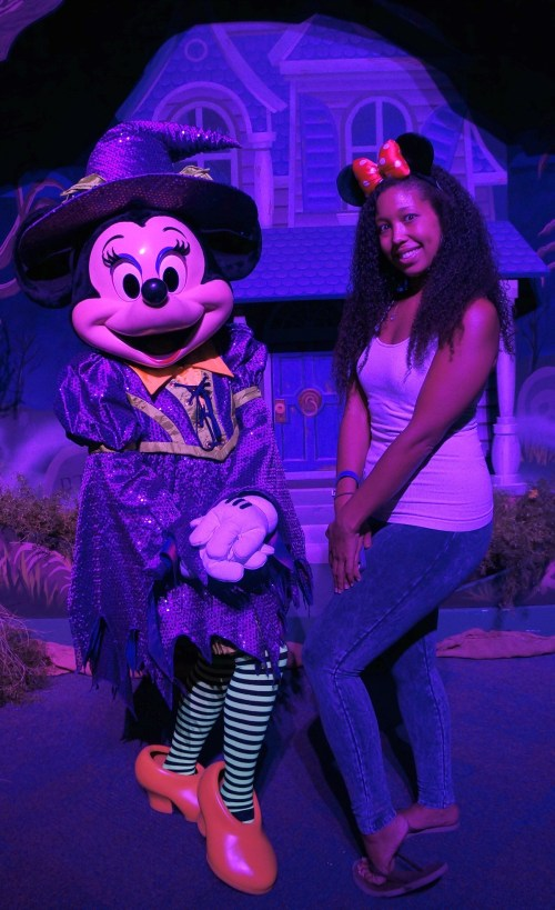 Halloween Time at The Disneyland Resort - Deanna Underwood with Minnie Mouse