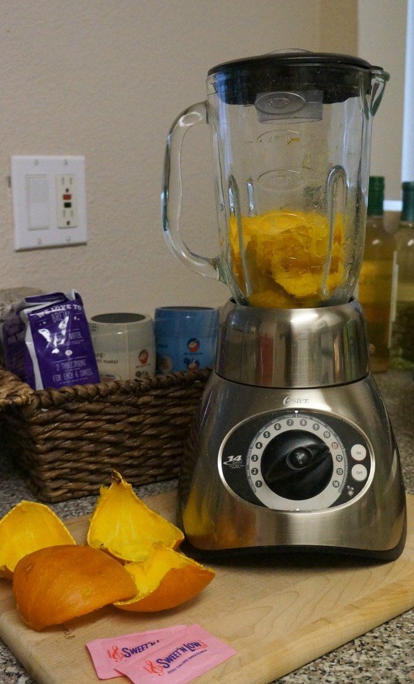 Make your own pumpkin puree in a blender