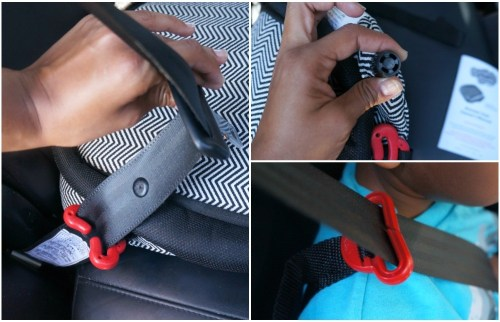 Installation of the Bubble Bum car travel booster seat