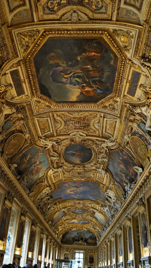 Ceiling at the Lourve Museum, Paris France
