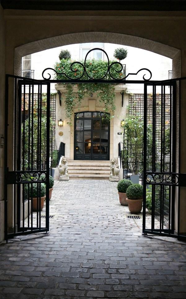Courtyard at Relais Christine Hotel, Paris France