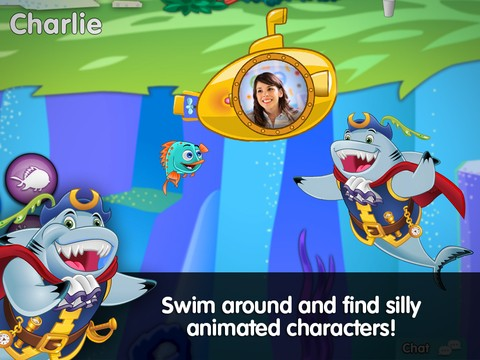 Captain McFinn Swim & Play, swim around and find funny characters