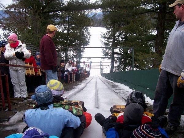 Toboggan chute, Adirondacks