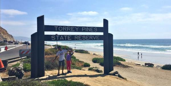 Beach hike for kids, Torrey Pines State Reserve