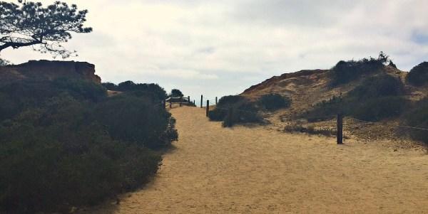 Beach hike for kids, Torrey Pines beach trail