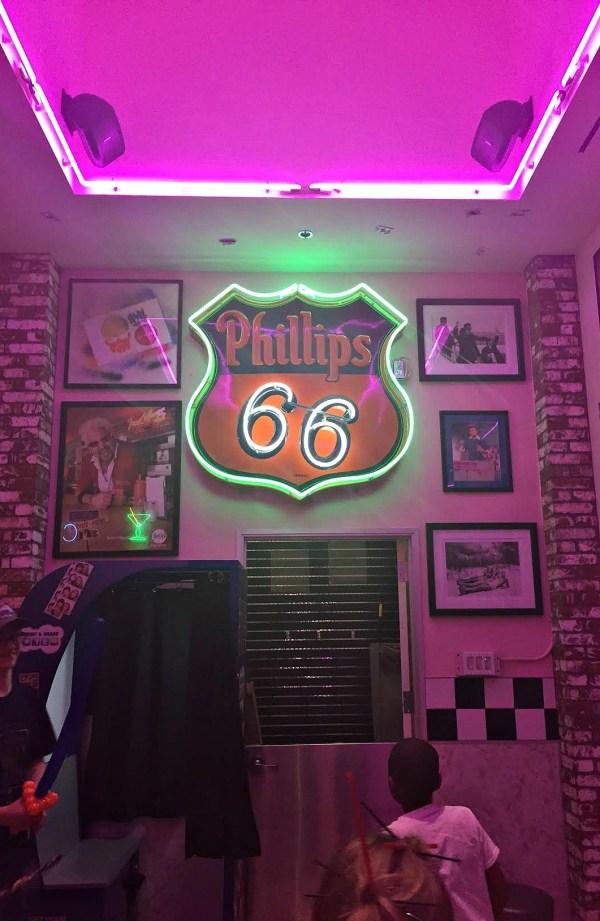 Corvette Diner restaurant 50's wall decor, San Diego