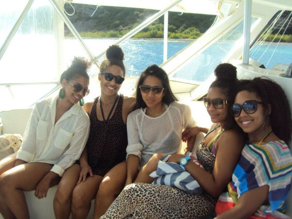 Ladies on a yacht, Curacao