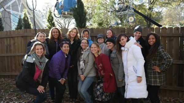 Marvel ANT-MAN movie set, media exclusive set visit with Judy Greer, Atlanta GA