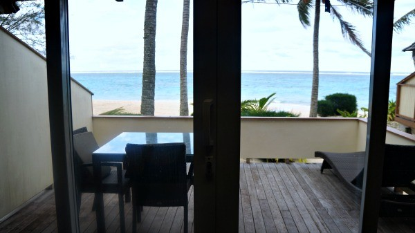 Palm Grove Resort, Rarotonga, Cook Islands, view of the ocean from beach bungalow