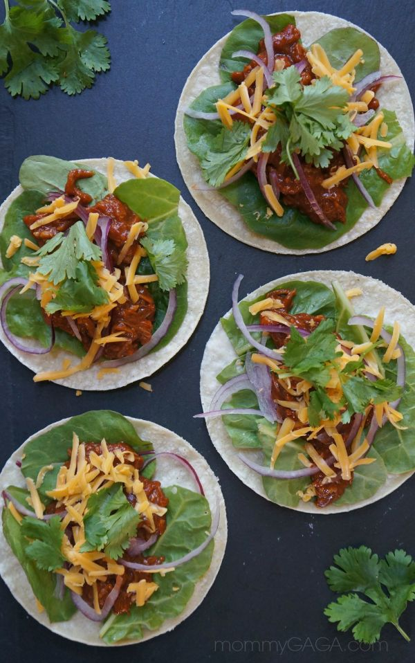 Quick and Easy Weeknight Dinners, 15-Minute BBQ Shredded Chicken Tacos