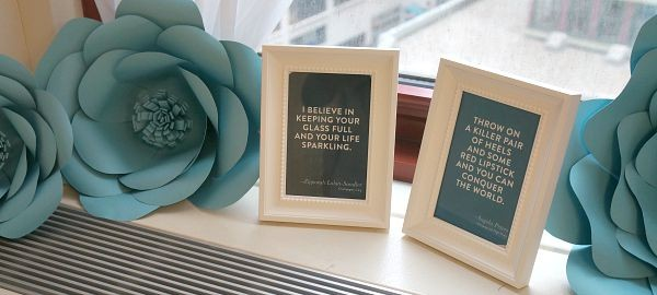 Motivational Quotes on display at the Fruit of The Loom showroom, Vanity Fair Summit